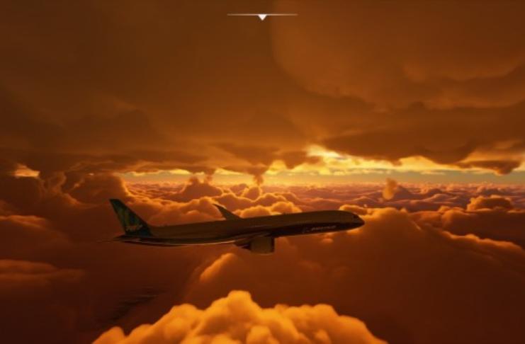 Furacão Laura é capturado por câmera através do Microsoft Flight Simulator