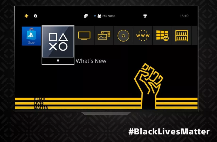 Sony lança tema Black Lives Matter para PS4 grátis