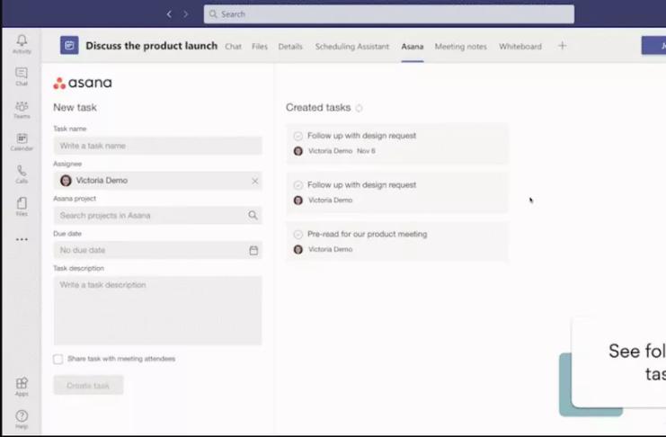 Microsoft Teams permitirá que você use mais aplicativos de local de trabalho diretamente em reuniões