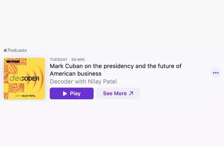 Apple Podcasts agora compete com Spotify por incorporações na web