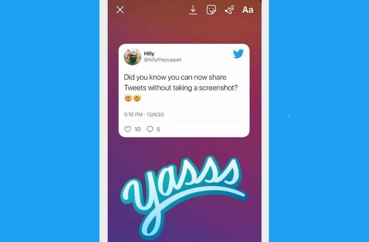 Agora você pode adicionar tweets aos seus snaps