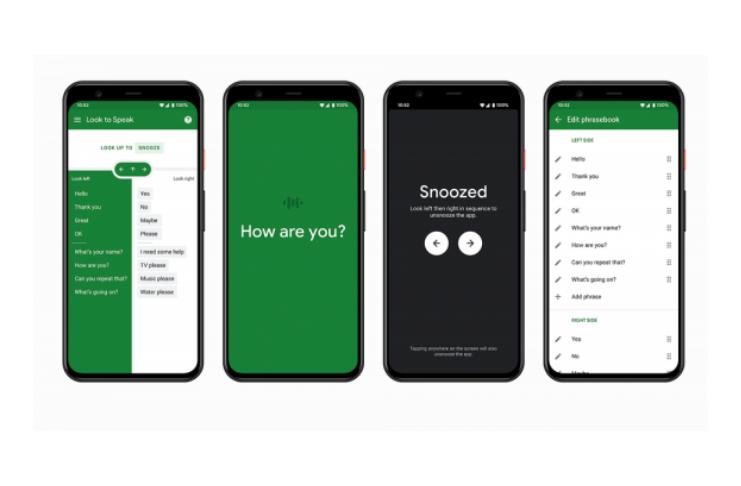 Novo aplicativo da Google, Look to Speak, permite que pessoas com deficiência motora e de fala se comuniquem com os olhos