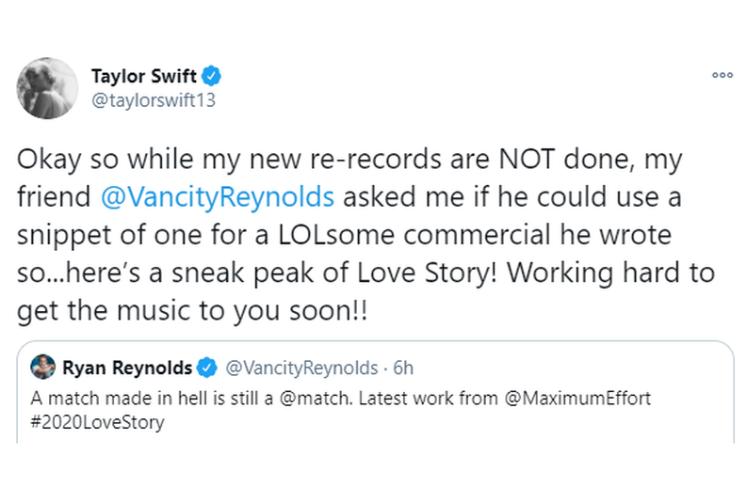 Taylor Swift estreia pedaço de regravação do hit Love Story