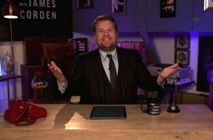 James Corden e Jimmy Kimmel voltam a gravar programas de TV de casa