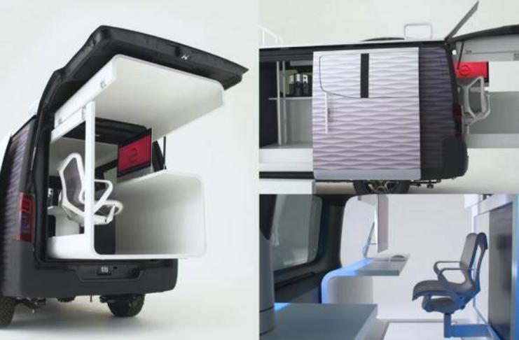 """Nissan apresenta """"Caravana de Escritório"""", que te permite trabalhar remotamente em qualquer lugar"""