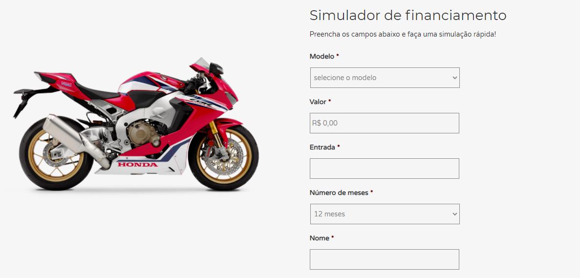 Aprenda este passo a passo para financiar a moto Honda CG 16