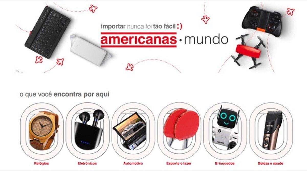 Americanas Mundo permite importar produtos sem pagar frete